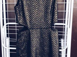 Forever 21 Black & Gold Dress w