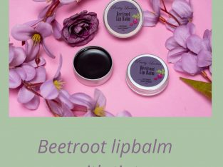 Beetroot lipbalm with tint
