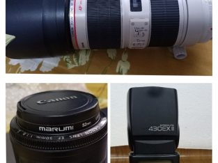 Canon Lens and Speedlight