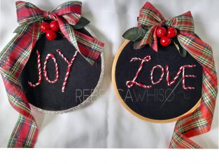 Christmas Embroidery hoops.
