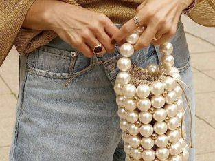 vintage pearl bag
