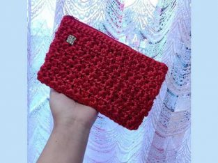crochet silk bag